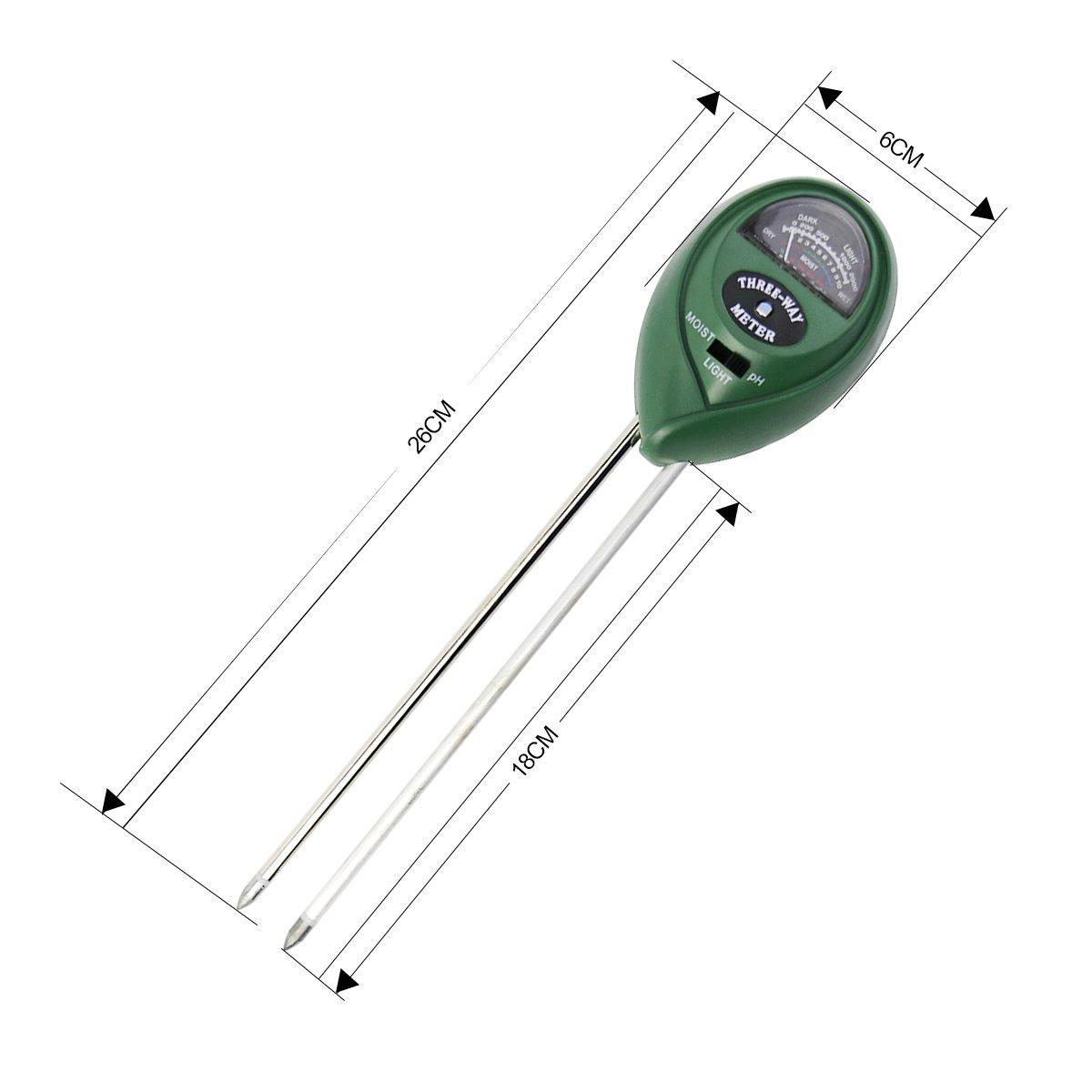 3-in-1 Soil Tester Moisture Meter,ALLESCOOL PH Acidity Tester, Soil pH Tester Kit for Garden, Farm, Lawn Plants Care ( No Batteries Needed)
