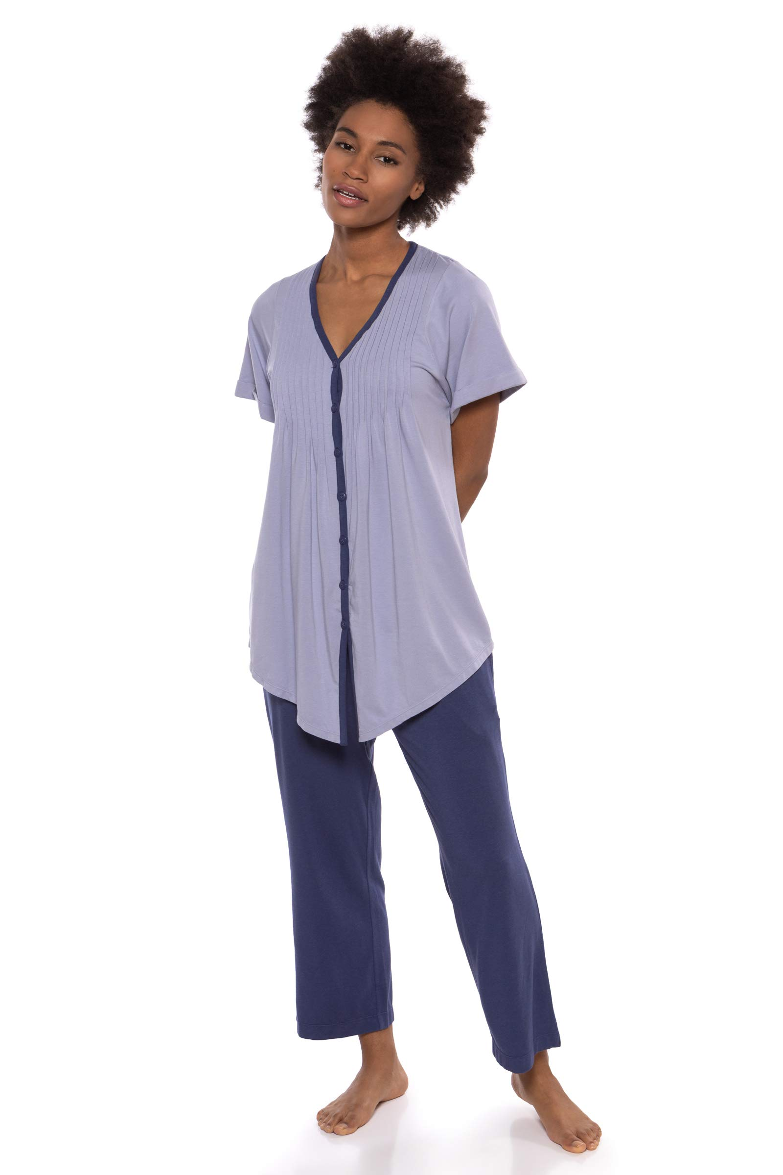 Women s Short Sleeve PJ Set - PJs in Bamboo Viscose by Texere (Sweet  Paradise) 3e1cd7e65