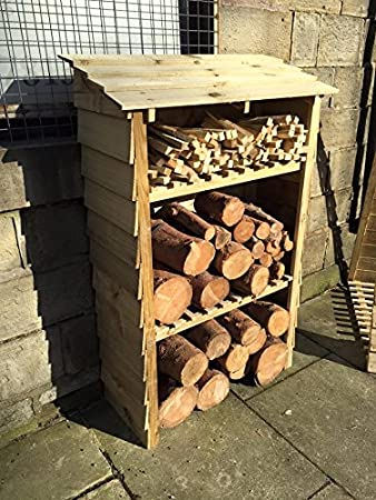 Log Store, Wood Stores, Decorative Outdoor Storage, 80cm X 140cm X 35cm