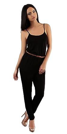 b8f2168692f6 Amazon.com  Spaghetti Strap Jersey Knit Jumpsuit
