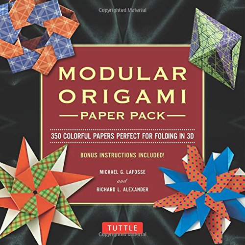 Modular Origami Paper Pack: 350 Colorful Papers Perfect for Folding in 3D (Modular Origami Paper compare prices)