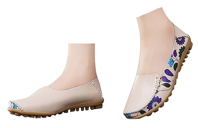 898cf461c306e Amazon.com: Women Flat Office Shoes Mother Shoes Flat Wedge ...