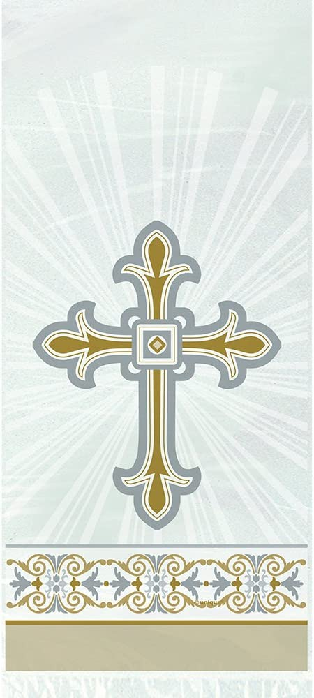 18 Foil Gold /& Silver Radiant Cross Confirmation Balloon