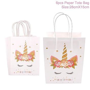 Amazon.com: Caja de regalo de fiesta con diseño de unicornio ...