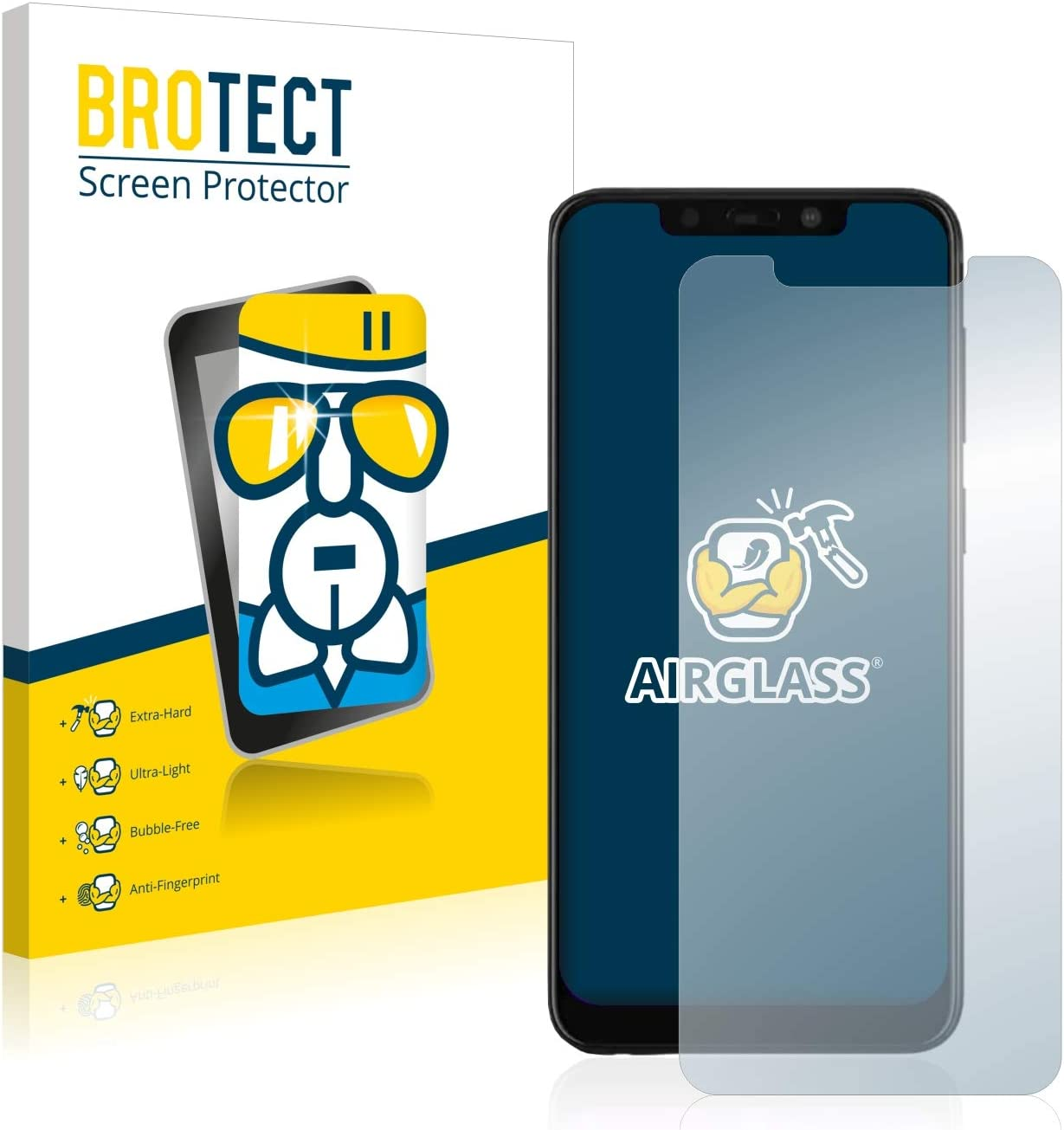 BROTECT Protector Pantalla Cristal Compatible con VSmart Active 1+ ...