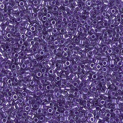 Miyuki Delica 11/0 Cylinder Seed Beads - Spkl Purple Lined Crystal - DB0906 5 ()