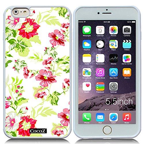 New Apple iPhone 6 s Plus 5.5-inch CocoZ? Case Beautiful Hawaiian Flowers designs TPU (White TPU& Hawaiian Flowers 3)