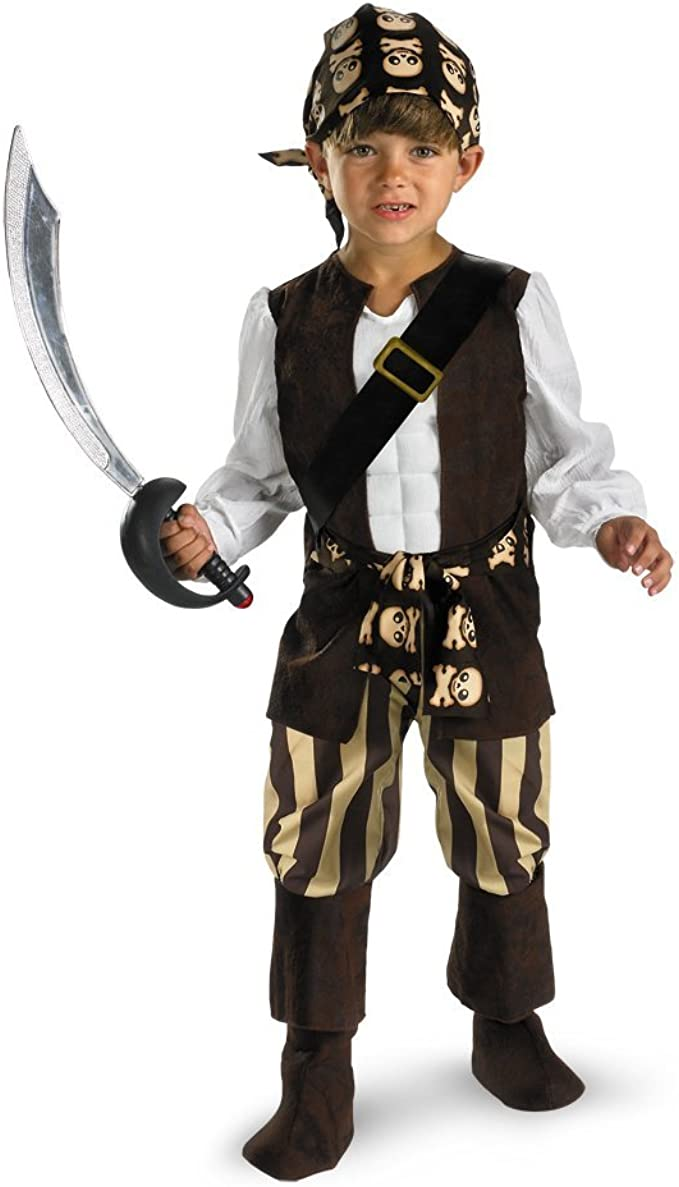 Disfraz 150631 Tama-o Rogue pirata Toddler Costume: 3T-4T: Amazon ...