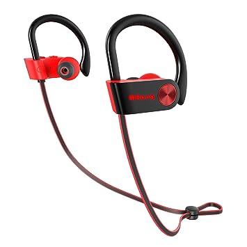 Auriculares Bluetooth Deportivos Impermeables IPX7 Auriculares Bluetooth In-Ear Cascos Inalámbricos con Micrófono, Cancelación de Ruido CVC 6.0 para iPhone, ...