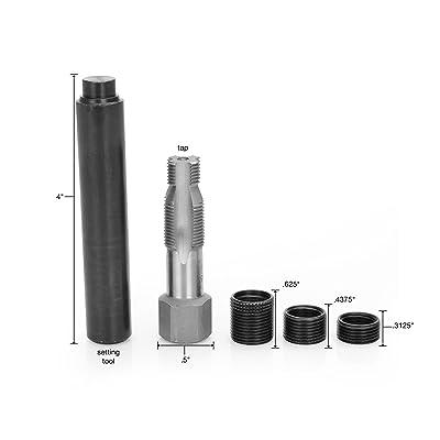 OEM TOOLS 25647 Spark Plug Saver | 14m x 1.25 Thread Reamer and Thread Inserts | 5 Piece (3 Thread Inserts, 1 Reamer, 1 Swaging Tool) | Rethreads & Repairs Taper Seat & Gasket Type Spark Plug Assembl: Automotive