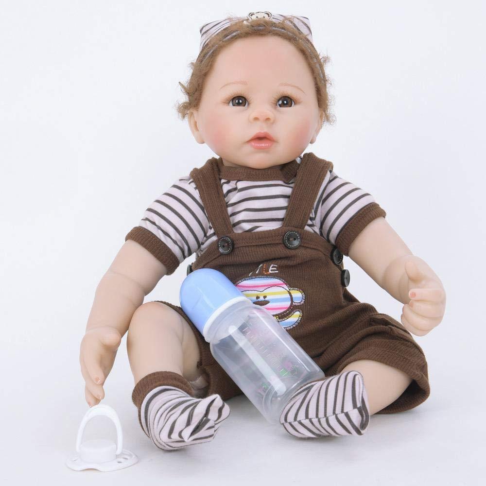 Hongge Reborn Baby Doll,Se ve una muñeca renacida Real El bebé Crece una muñeca renacida como compañero de Juguete 55cm