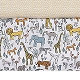 DwellStudio Safari Animal Print Crib Skirt, Gray/Yellow/Orange