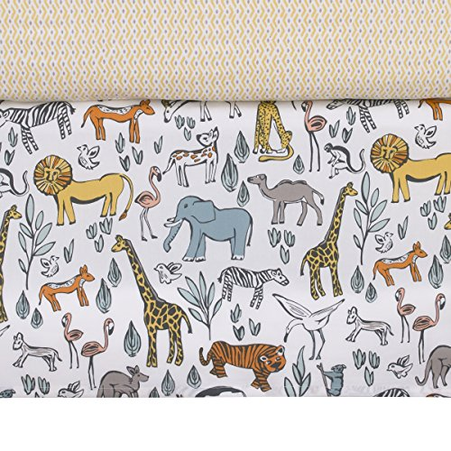 Dwellstudio Kids Bedding - DwellStudio Safari Animal Print Crib Skirt, Gray/Yellow/Orange