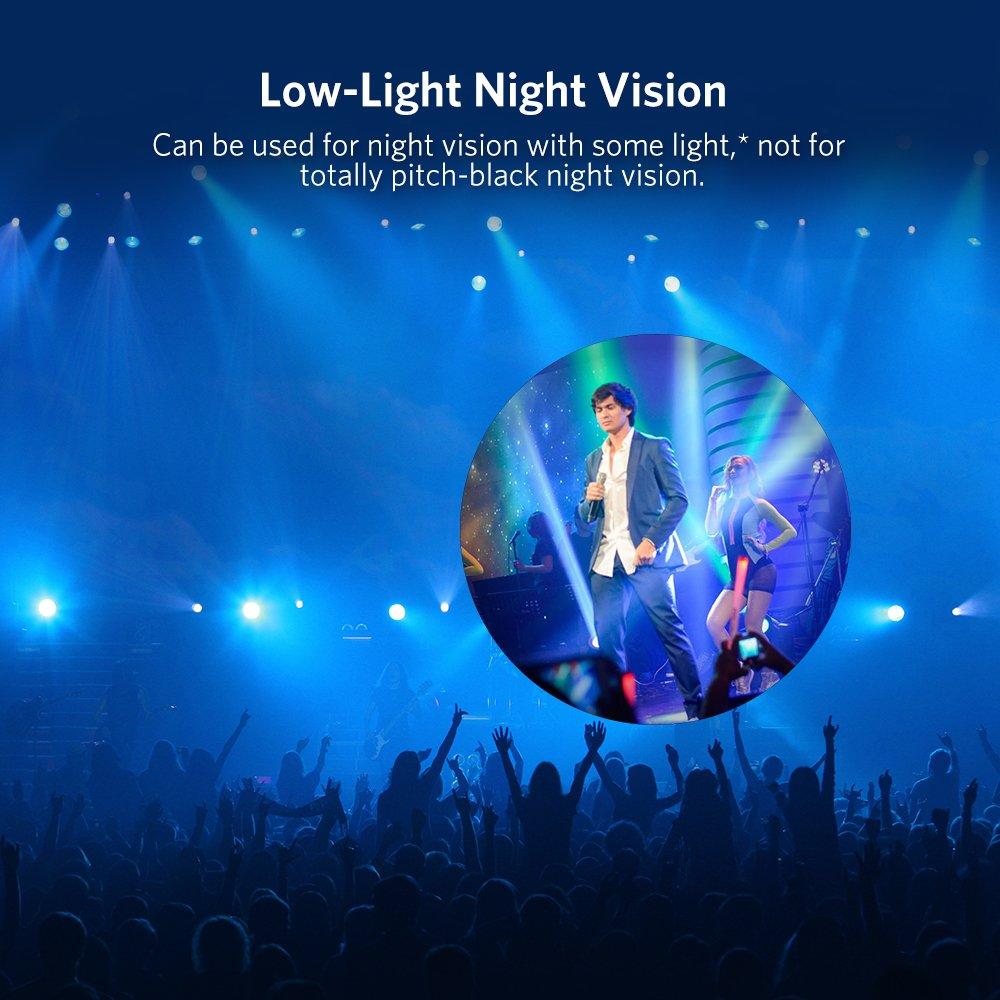 Monoculaire 40x60 Télescope Haute Puissance Zoomable Optique Vision Nocturne Basse Lumière Jumelles Anti-Brouillard/Pluie Idéal pour l\'Observation des Oiseaux, Sports, Concerts, Voyages, 500m/9500m