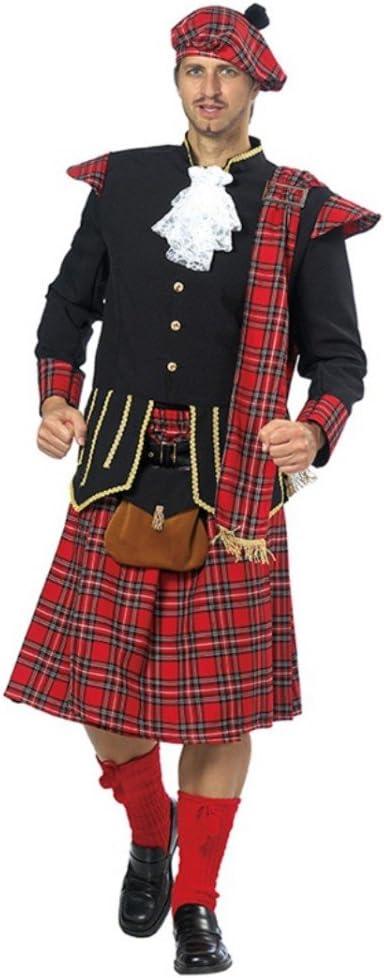 Mottoland GmbH Disfraz de escocés para Hombre Falda de Chaqueta de ...