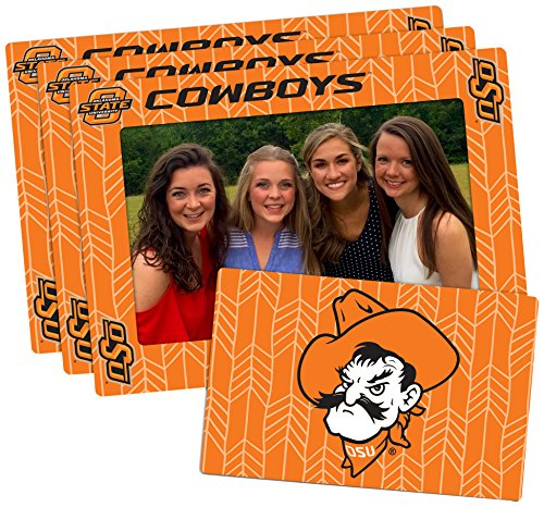 Worthy Promotional NCAA Oklahoma State Cowboys 4-inch by 6-inch Magnetic Frame Plus Bonus Magnet, Orange, 3 (Ncaa Picture Frame)