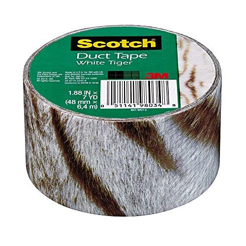 Scotch Duct Tape, White Tiger, 1.88-Inch x 7-Yard