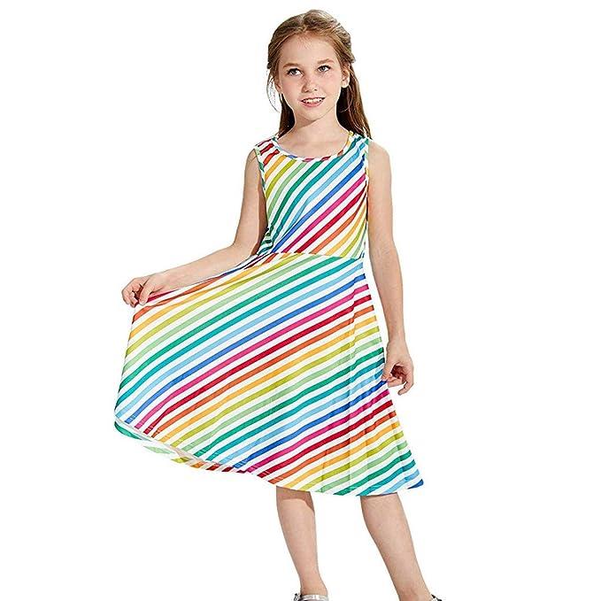 Amazon.com: Vestido para niñas con correa para niños ...