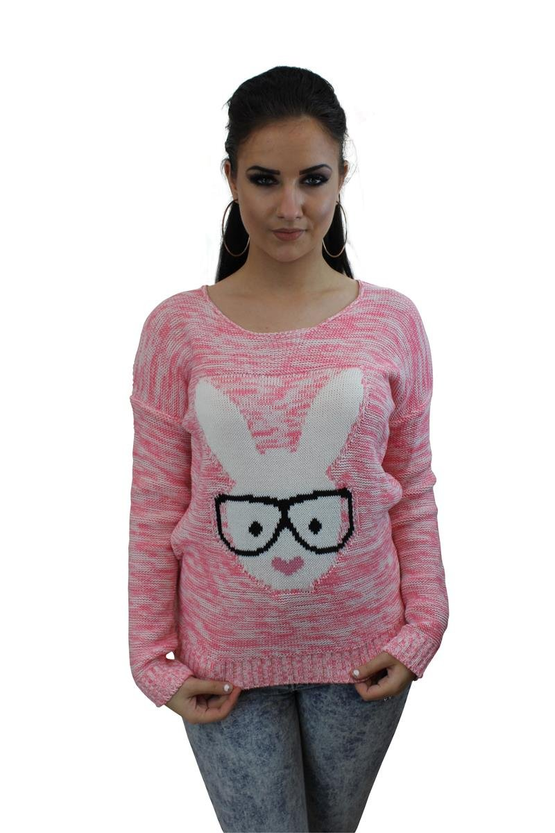 Glasses Bunny Knitted Heart Lips Jumper