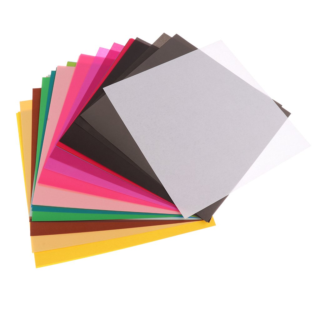 Fityle 50 Sheets Colorful Square Single Sided Origami Papers for DIY Arts Crafts Project - 10x10cm