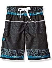 Boys' Fusion Stripe Quick Dry Beach Board Shorts Swim Trunk