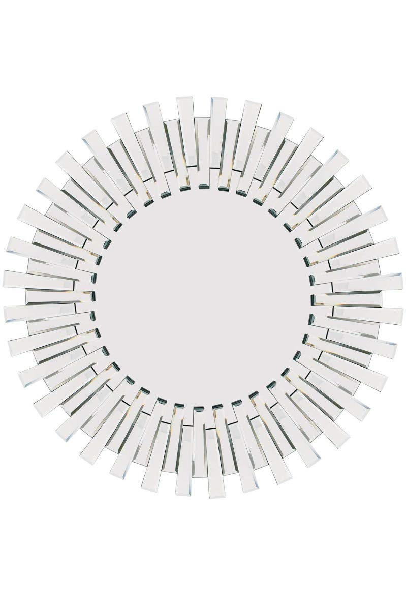 Modern Unique 3D Sunburst All Glass Venetian Round Wall Mirror 3Ft Or 91cm New MirrorOutlet