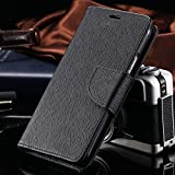 Thinkzy Leather Flip Cover for Lava Z50 (Black)