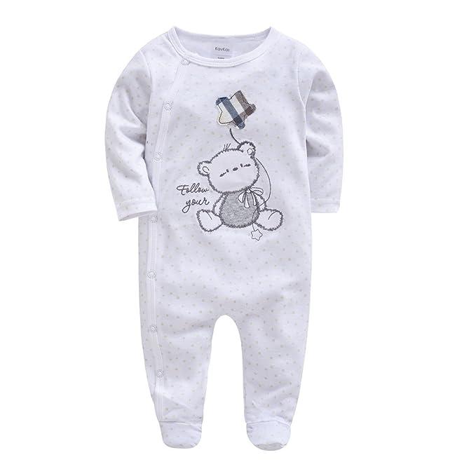 Recién Nacido Pijama Bebés Pelele Niñas Niños Mameluco Algodón ...