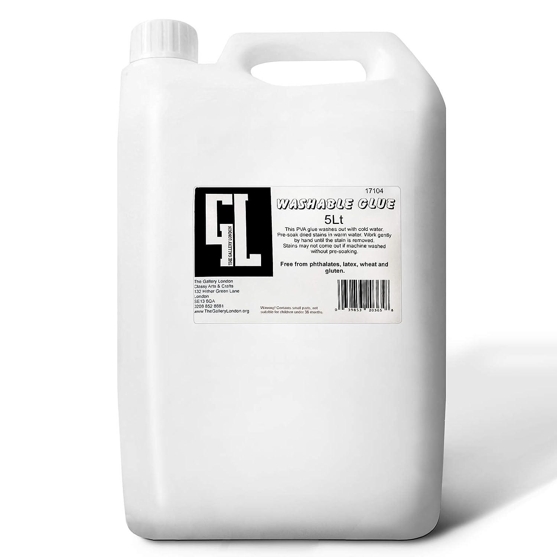 5 Litre Eco Washable PVA Craft School Glue Slime Compatible The Gallery London TGL5