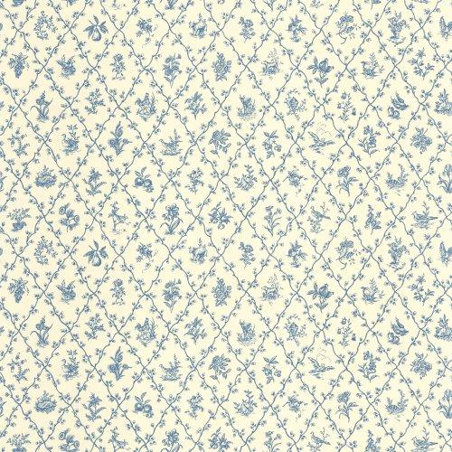 Diamond Toss Wallpaper - Williamsburg 5510401 Diamond Toss Wallpaper, Blue, 20.5-Inch Wide