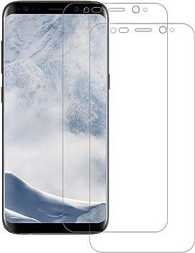 2-Pack Protector de Pantalla Samsung Galaxy S8, POOPHUNS Protector ...