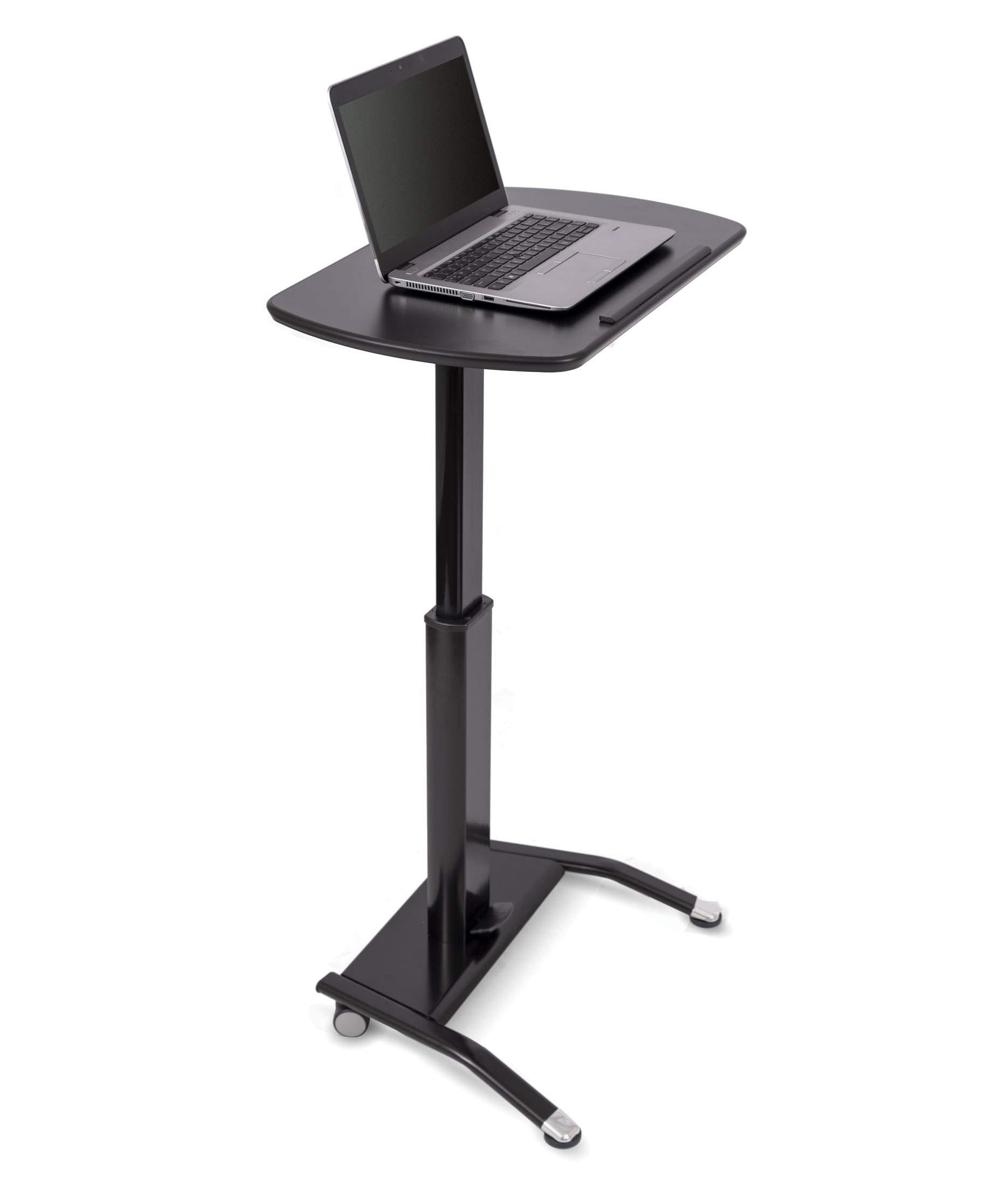 Pneumatic Adjustable-Height Lectern (Black)