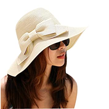 TININNA Bohemia Verano Sun Floppy Mujer Sombrero de la Playa de la Paja del  Borde Grande f53bba803e7