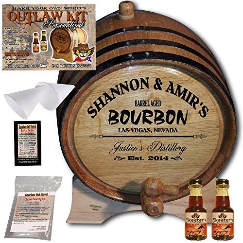 Personalized Outlaw Kit (Kentucky Bourbon) From American Oak Barrel - Design 062: Barrel Aged Bourbon - 2014 Barrel Aged Series (2 Liter) by American Oak Barrel