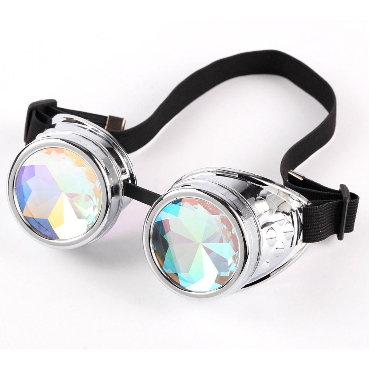 Wosonku Festivals Rave Kaleidoscope Rainbow Glasses Prism Diffraction Crystal Lense