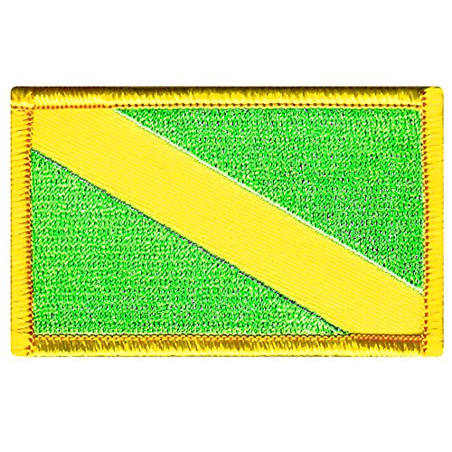 Nitrox Diver Down Flag Patch Fluorescent Green Embroidered Iron On Scuba Diving Emblem Souvenir