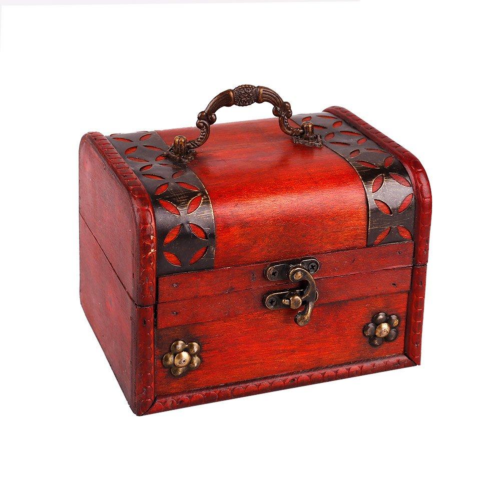SICOHOME Treasure Box 5.46 inch Treasure Chest for Gift Box,Taro Cards Box,Gifts and Home Decor