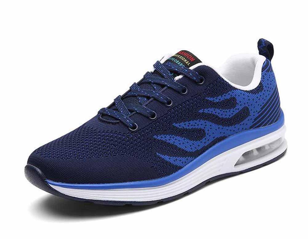 Hombres Zapatillas De Correr De Punto 2018 Zapatos Ocasionales Del Amortiguador De Aire Del Verano De La Primavera Zapatos Atléticos De Gran Tamaño ( Color : Blue , tamaño : 41 ) 41|Blue