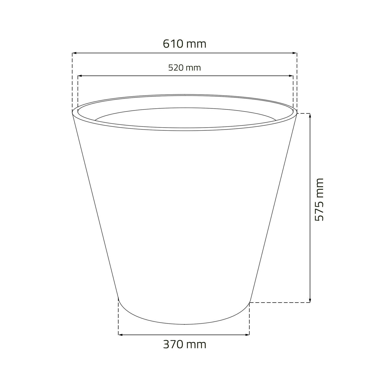 matuba 600 medida Maceta mod chocolate 60x59 cm