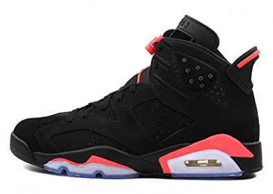 Air 6 Retro Zping & reg; Chaussures Noir Infrarouge AJ6 Basketball Pour  Hommes