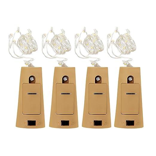 2 opinioni per Zilong Set di Quattro Mini Luce Bottiglia Stringa Luce 30inch Led, con la