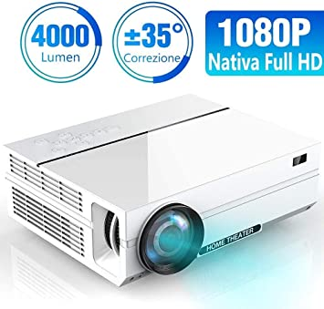 SWEET Proyector Práctico Proyector De Alta Definición Nativa 1080P ...