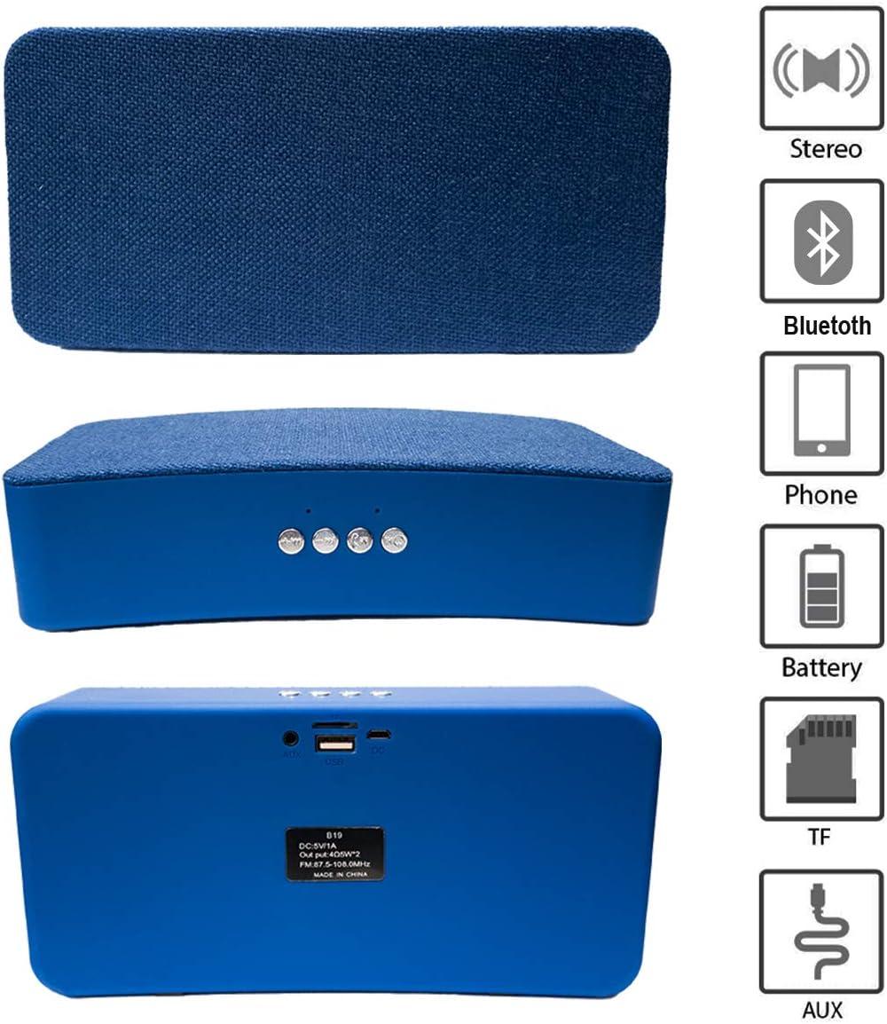 Altavoz portátil de 10W con tecnología Bluetooth BSL-B19 (Azul) | Resistente a Polvo y Salpicaduras Puerto USB y SD | Toma Auxiliar