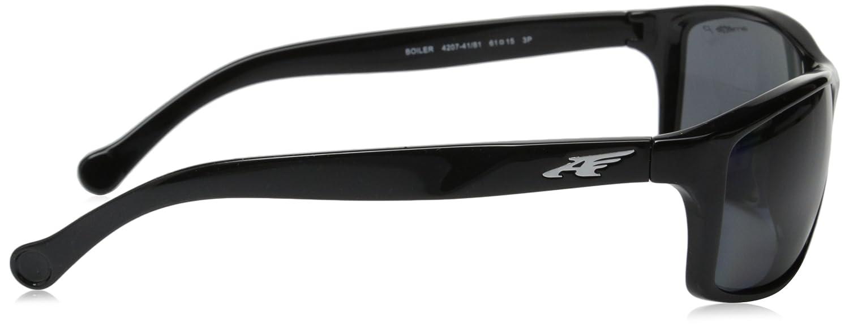 fee24ab813 Amazon.com  Arnette Boiler AN4207-01 Polarized Rectangular Sunglasses