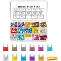 Haobase 140pcs Mini Car Fuse Fuse Assorted Fuse for Auto Truck with Storage Case (2A, 3A, 5A, 7.5A, 10A, 15A, 20A, 25A…