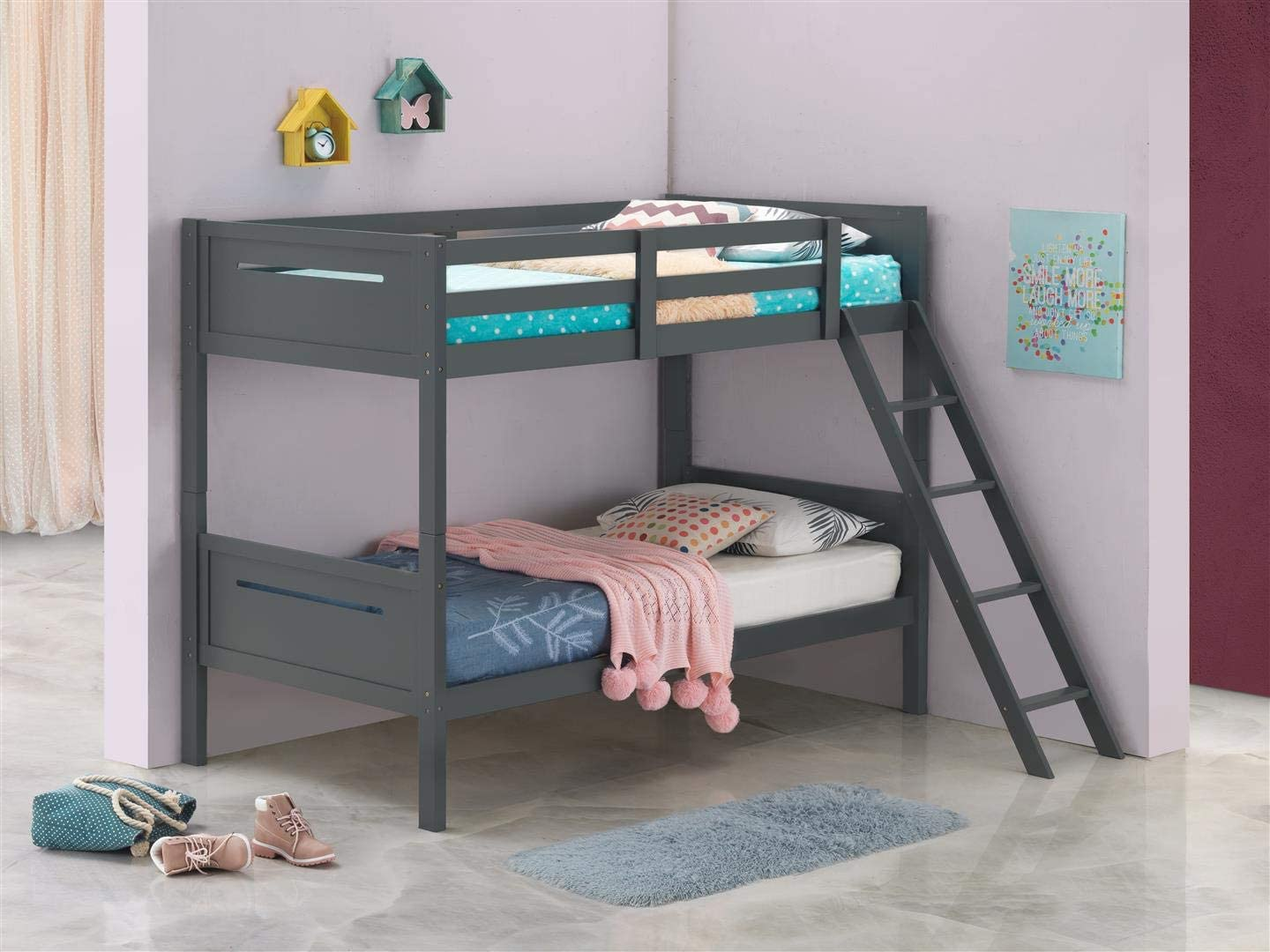 Coaster Home Furnishings Armand Solid Wood Twin Over Twin Bunk Bed
