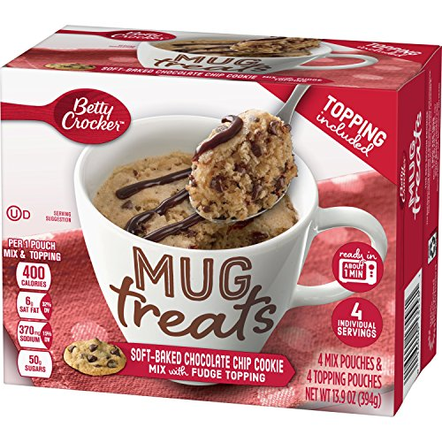 Betty Crocker Baking Mug Treats Soft-Baked Chocolate Chip Cookie Mix with Fudge Topping, 13.9 oz(us) by Betty Crocker