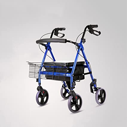 S-L-C Inicio Carrito de compras portátil puede doblar Carritos (Color : B-With pedal