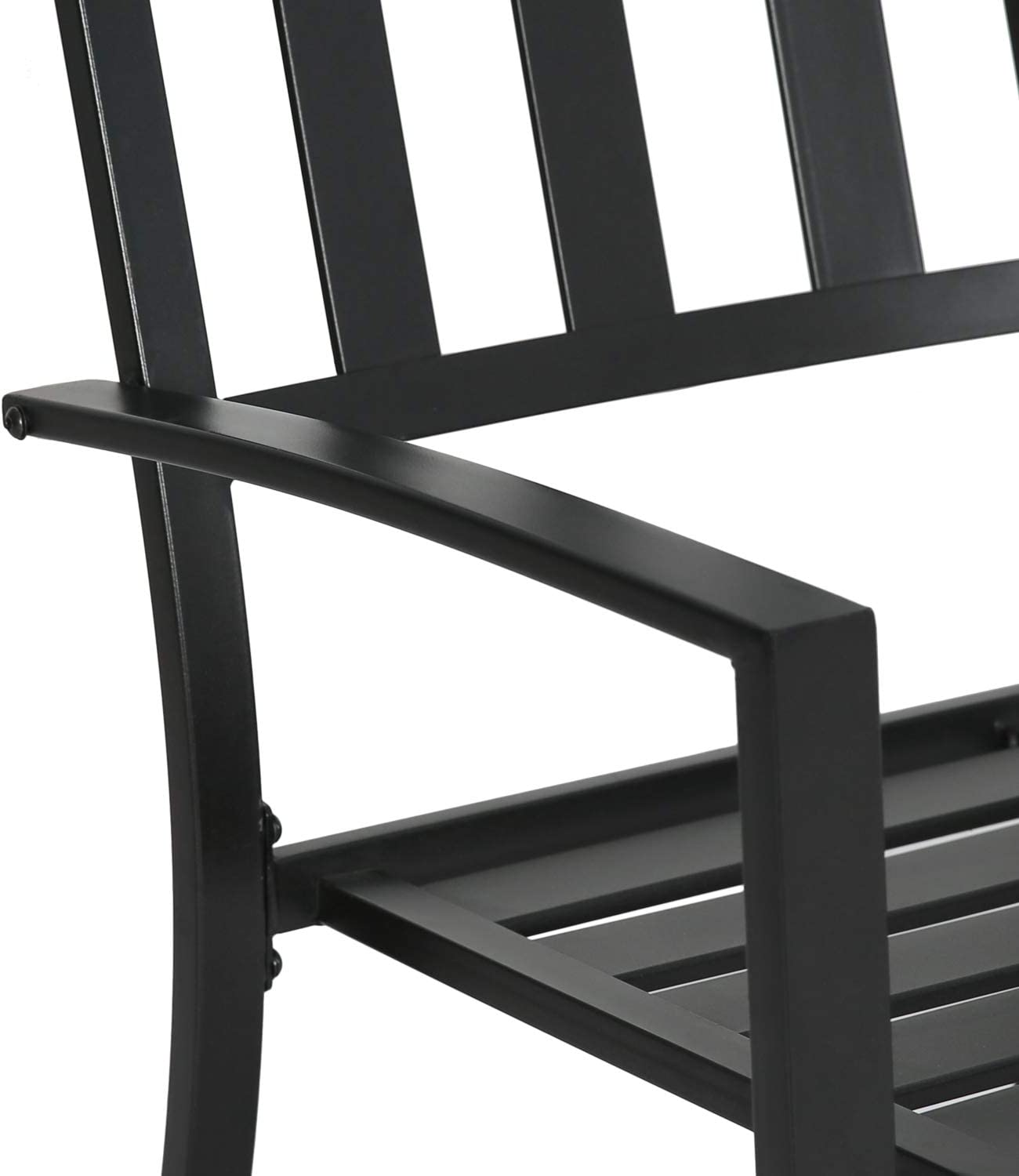 Iwicker Patio Steel Dining Arm Chairs Set of 4