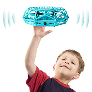 Hand Controlled Drone, Supkiir Mini Drone for Kids or Adults, Easy Indoor Helicopter Toy with 360°Rotating, LED Light, Auto-Sense Obstacles Flying Ball Drone for Boys and Girls…